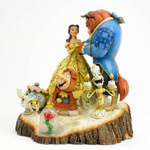 """7.75"""" Beauty - Beast Figurine Carved By Heart by Jim Shore Disney Traditions image 3"""