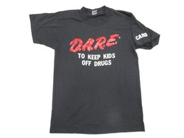 """D.A.R.E. """"To Keep Kids Off Drugs"""" Caro, MI Black Graphic Shirt Men's Size Small - $24.70"""