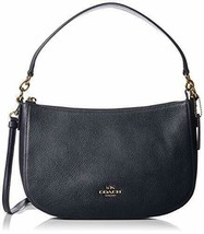 Coach Pebble Chelsea Women's Cross-body Navy Bag 56819 - $152.26