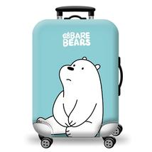 Luggage Cover Protecting Suitcase Blue Elastic Cute Panda Pattern Luggage - $27.99