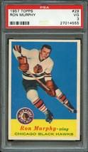 1957 TOPPS #29 RON MURPHY HOCKEY CARD-CHICAGO BLACK HAWKS- PSA 3 - $17.77