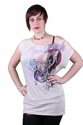 Bench UK Conquer Luce Rosa Crema Girocollo T-Shirt