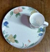 Mikasa Fruit Panorama -- Snack Luncheon Plate And Mug Set - $5.99