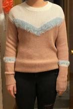 Freshmans Juniors Sz Large Chevron Stripe Pullover Sweater Crew Neck Rib... - $18.69