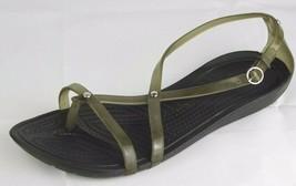 Crocs Donna Sandali Cinturino Alla Caviglia Nero Verde Taglia 8 - $19.93