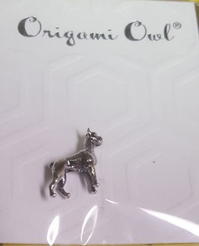 12 Authentic Origami Owl Sterling Silver Boxer Charm Dog