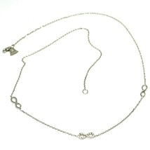 Necklace White Gold 18k 750, Chain Rolo ' , Symbols Infinity, Zircon Cubic - $303.86