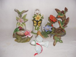 Lot Broken Porcelain China Birds & Bells for Mosaics or Crafts Bisque Fi... - $9.00
