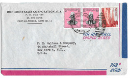 1956 Haiti Airmail Cover Port au Prince to US Duplex H Cancel Sc# 408 C99 - $4.99