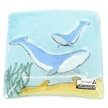 Fused Art Glass Ocean Humpback Whale Design Square Soap Dish Handmade Ecuador image 2