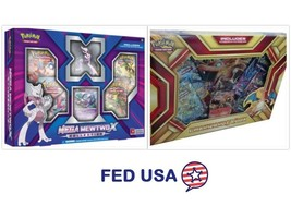 Mega Mewtwo X Collection Box & Charizard EX Box, Pokemon Trading Cards +... - $54.99