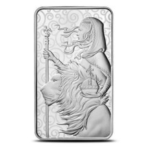 2021 Britain Great Engravers Una and the Lion 10 oz Silver Bar - $500.00