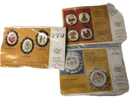 Creative Circle Counted Cross Stitch Kits lot of 3 NEW Vintage # 1939, 2167, 779 - $19.79