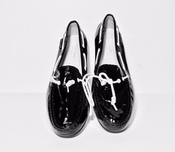NEW $118 COLE HAANS GRAND.OS WOMEN'S BLACK PATENT LEATHER  LOAFER/ WHITE... - $41.30