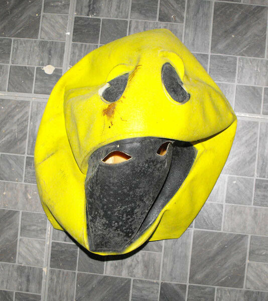 Pac Man Rubber Halloween Mask With Tag