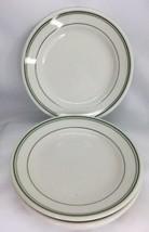 "5 Homer Laughlin Best China Green Rim 6 1/4"" Restaurant Ware Bread/Butter Plates - $15.83"