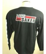 Vans Mens Baker Skateboards LS T shirt Black White Red Size Large NWT Fr... - $34.00