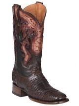 Western Boot Old Mejico Exotic Lizard teju Cigar ID 301094 - £233.65 GBP