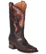 Western Boot Old Mejico Exotic Lizard teju Cigar ID 301094 - £217.95 GBP