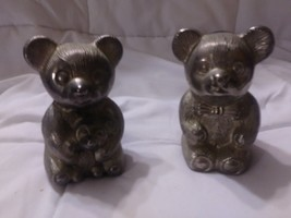 Set of Two Vintage Silverplated Bear Banks - Teddy Bear Banks - Leonard ... - $6.93