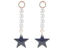 Black Swarovski Crystal Star Earrings - $30.40