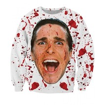Bateman Serial Killer Villain Bloody Face Sweatshirt - $38.99