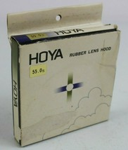 Vintage Hoya Rubber Lens Cover 55mm 55.0S New Old Stock with opened box - $10.89
