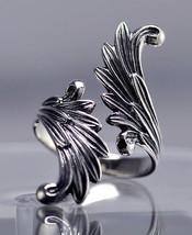 Final Fantasy 8 Rinoa Siren wings Ring Sterling silver - $60.08
