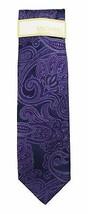 New Mens Michael Kors Scalloped Paisley Purple Silk Neck Tie $65 - $22.76