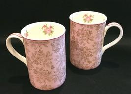 Royal Albert Rose Set of 2 Coffee Tea 10oz. Mugs 2006 Pink Chintz - $28.99