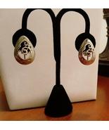 Tribal Southwestern Motif  Silver Tone Clip-on Earrings - $18.00