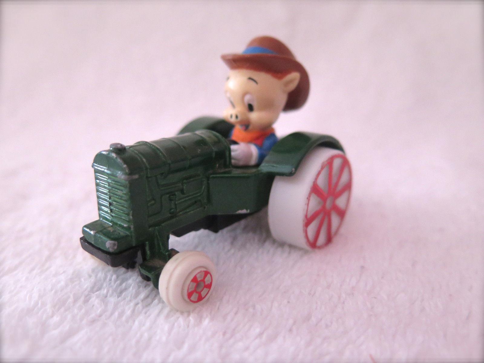 VINTAGE Looney tunes  ERTL Porky Pig in Car Toy, 1988, Warner Brothers