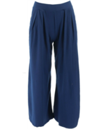 Cuddl Duds Flexwear Relaxed Wide Leg Pants, Navy,Size L , NEW A301224 - $21.77