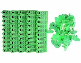 Walkingpround 100Pack Green 1-100 Number Plastic Livestock Ear Tag Anima... - $19.44
