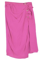 Nina Ricci pintucked/draped and layered silk pink skirt - $101.92