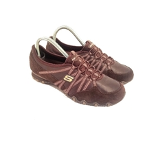 Skechers Suede Slip On Sneakers Size 7 In Great Pre Owned Condition - $25.00