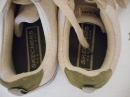 Skechers Sz 9 Womens Beige Athletic Shoes Sneakers Leather upper lace up image 6