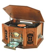 Anders Nicholson Record Player CD Turntable Home Audio Radio FM Cassette... - $220.00