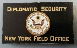 Diplomatic Security New York Field Office DOS DSS Emblem Marble Desk Plaque - $54.45