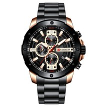 CURREN Men Watch Top Brand Stainless Steel Mens Watches Chronograph Quartz Watch - $40.01