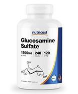 Nutricost Glucosamine Sulfate 750mg, 240 Capsules 1500mg per Serving - $20.59