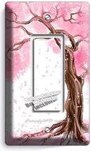 Japanese Sakura Tree Root Cherry Blossom Gfi Single Lightswitch Plate Room Decor - $8.97