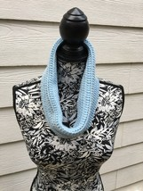 Hand Crochet Cowl Light Blue New - $19.35