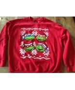 TMNT Teenage Mutant Ninja Turtles Christmas sweater sweatshirt ugly mint... - $28.49