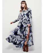 New Free People First Kiss Maxi Dress Dark Onyx Combo Size XS  Retail $148 - $67.32