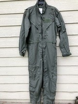 US AIR FORCE NOMEX FIRE RESISTANT FLIGHT SUIT GREEN CWU-27/P - 44R - $34.65