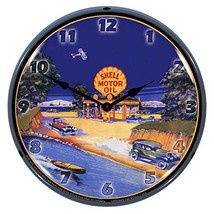 1929 Shell Gas Station Lighted Wall Clock - $129.95