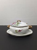 Vintage Small Porcelain Sugar Bowl with lid / LEFTON / Handpainted / 4668 - $13.93