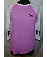 Victorias Secret Pink Womens 3/4 sleeve t-shirt S Top Shirt Jersey Pullover - $27.27