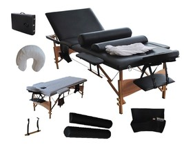XLarge Reiki Professional Massage Tables Portable PU Case w Free Bolster... - $151.37